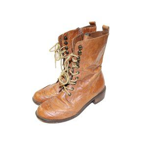 Aldo Western Style Lace Up Combat Boots